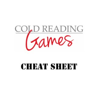 cold reading games cheat sheet graphic