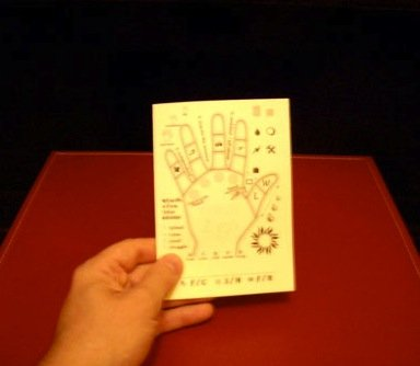 a held version of the palmistry tick sheet