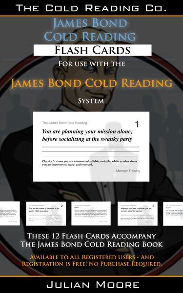 james bond cold reading flash cards promo