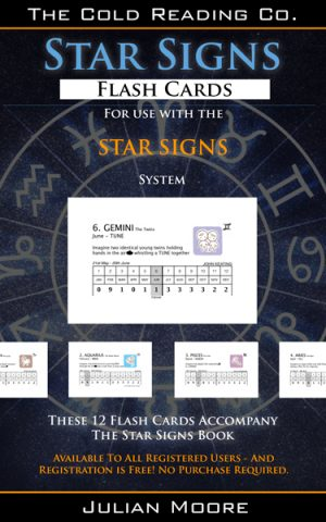star signs flash cards promo